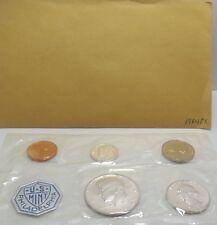 1964 P US Mint 5 Coin Silver Proof Set Damaged Envelope
