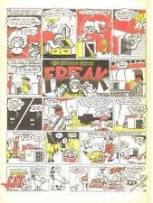 4 FABULOUS FURRY FREAK BROTHERS color underground newspaper excerpt comic pages.