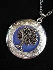 Árbol de la vida Medallón Collar Colgante Gótico Lila Vintage Fantasía Fae