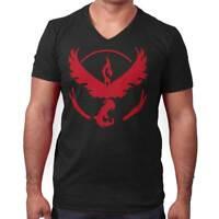 Team Valor Go Red Master Trainer Gamer Gift V-Neck Tees Shirts Tshirt T-Shirt