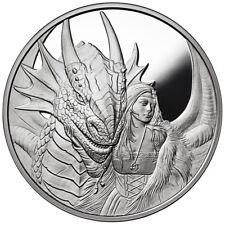 1 OZ SILVER COIN ANNE STOKES DRAGONS SERIES FRIEND OR FOE 1ST IN SERIES # COA