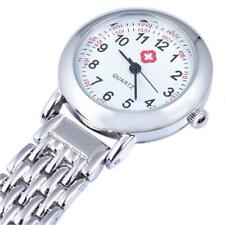 Silver Stainless Steel Quartz Fob Time Piece Watch for Nurse Care Assistant etc