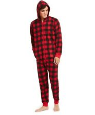 Family Pajamas Matching Men's Buffalo-Check Hooded Pajamas