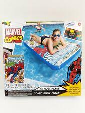 SwimWays Marvel Comic Book Float Spider Man 60x40 Large Pool Lake Toy Raft New