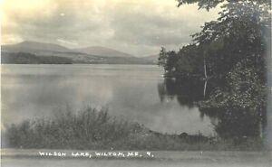 WILSON LAKE, WILTON, MAINE, REAL PHOTO