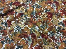FALL LEAVES, APPLES & PEARS COTTON FABRIC BY JOAN MESSMORE  BY THE YARD