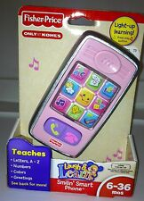 NIB Fisher Price Laugh and Learn Smilin' Smart Phone - Pink