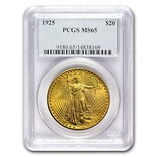 1925 $20 Saint-Gaudens Gold Double Eagle Coin - MS-65 PCGS - SKU #67298