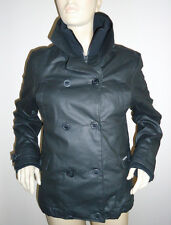 NEW LADIES BLACK EASTPAK HOOK WAX JACKET/COAT WITH FLEECE LINING SIZE L 10-12