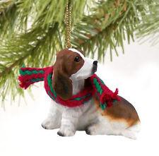Basset Hound Dog Christmas Ornament Holiday Figurine gift Xmas pet
