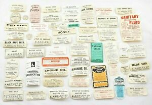 Vintage Medicine Cure Bottle Labels - Pharmacy - Apothecary - Over 50+ Labels!