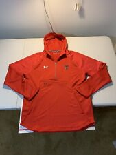 Men's Under Armour Texas Tech Hoodie Sweatshirt Size L Red