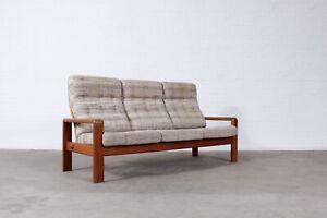 50s60s Teak 3er Sofa Couch EMC Danish Design Mid Century Vintage