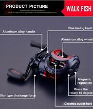 ABU Noir Max Main Droite Vent Bait Casting Fishing Reel Hot 3+1BB & Cadeau