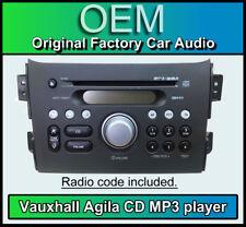 Vauxhall Agila CD MP3 player, Vauxhall PACR08 stereo head unit Supplied + code