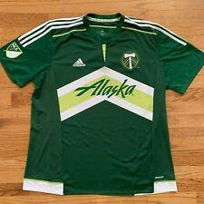 Adidas Portland Timbers MLS Alaska Two Tone Soccer Jersey Mens 2XL Army RCTID