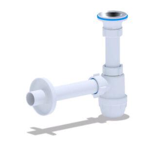 Geruchsverschluss für Waschbecken Siphon Sifon Röhrensiphon Flaschensiphon NEU