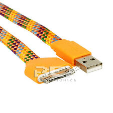 Cable USB a DOCK Cargador y Datos iPod,iPhone,iPad Color NARANJA Multicolor v301
