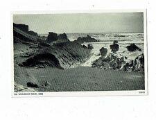 CORNISH POST CARD REAL PHOTO THE WHALEBACK ROCK, BUDE 22052
