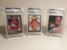 PETE ROSE Auto PSA/DNA CERTIFIED Lot Of 3!