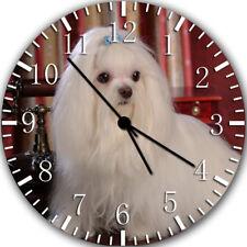 Beautiful Maltese Frameless Borderless Wall Clock Nice For Gifts or Decor Z113