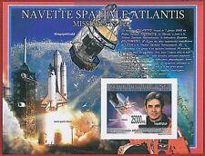 FRENCH GUINEA - ERROR, 2008 IMPERF SHEET: SPACE, Astronomy, Satellites, Shuttles
