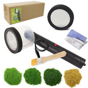 One Lot Portable Static Grass Flocking Applicator 2 Sieves 120g 5mm Grass Powder