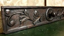 Rosette scroll leaves wood carving pediment Antique french architectural salvage