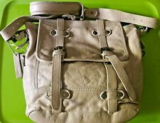 Tano • 'Khaki' Leather Messenger Bag • NWOT