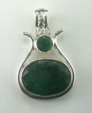 Unbehandelte Runde Echter Edelsteine-Ohrschmuck mit Smaragd