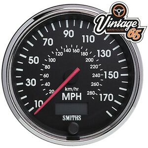 Smiths Classic Car 80mm 0-140 Mph Speedometer With Chrome Bezel Race Rally