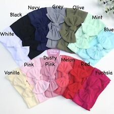 Newborn Baby Cotton Elastic BowKnot Headband Headwrap Nylon Baby Headband