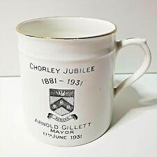 More details for chorley jubilee cup mug 1931 arnold gillet mayor wagstaff and brunt h 3.25