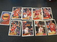 ancien cartes panini NBA basket Houston rockets fleer 94 95 collection