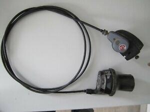 Sachs Super 7-Gang Schalteinrichtung, Drehgriff, Klickbox und 1600 mm Schaltzug