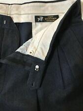 Hart Schaffner Marx 38 x 30 Gray Pleated and Cuffed 100% Wool Dress Pants