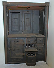 Restored Antique Victorian Cast Iron Kitchen Cooking Range Fireplace Hob (TA073)