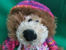 TIE-DYE T-SHIRT SOUVENIR SEAWORLD BROWN TEDDY BEAR PRIZE PARK PLUSH TOY