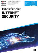Bitdefender Internet Security 2019 - Inkl. VPN - 18 Monate / 1 Gerät für PC