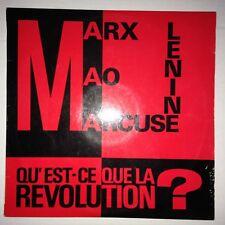 DISQUE 33T QU'EST CE QUE LA REVOLUTION ? MARX LENINE MAO MARCUSE MARCEL CLEMENT