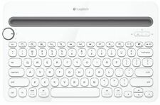 Logitech K480 Multi Device Bluetooth Keyboard PC Smartphone Tablet QWERTY White