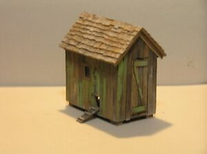 O Scale Scratch Built Hen House On3 On2 On30 1:48 scale Weathered