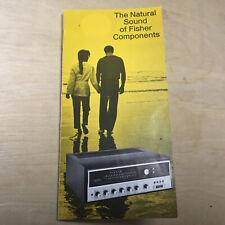 Vtg Fisher Radio Brochure ~ 1972? XP-16 TX-2000 500-TX 701 450-T XP-18 WS-80