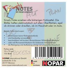 SIMPLY NOTES by Folio Contact Haftnotizen, 10 x10 cm, rosa/pink, 100 Blatt