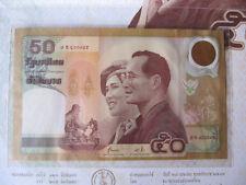Thailand Pick 105 50 Baht 2000 Gedenkbanknote kassenfrisch unc im Folder