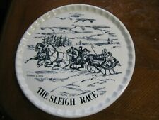 """Royal China CURRIER & IVES SLEIGH RACE 11 1/2"""" SANDWICH PLATE"""