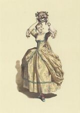 New postcard - Commedia dell'Arte - Woman with mask (Maurice Sand)