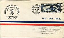 DR JIM STAMPS US SPRINGFIELD EASTERN STATES AIR MAIL EVENT COVER 1927