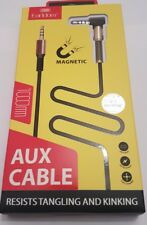 1M- 3.5mm Aux megnetic cable For to headphone MP3 iPod PC Car Earldorm@ Gold
