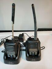 2x Icom Ic-M88 Waterproof Vhf Handheld Radio, Charger stand